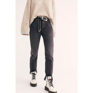 NWT Free People Chewed Up Straight-Leg Jeans 28